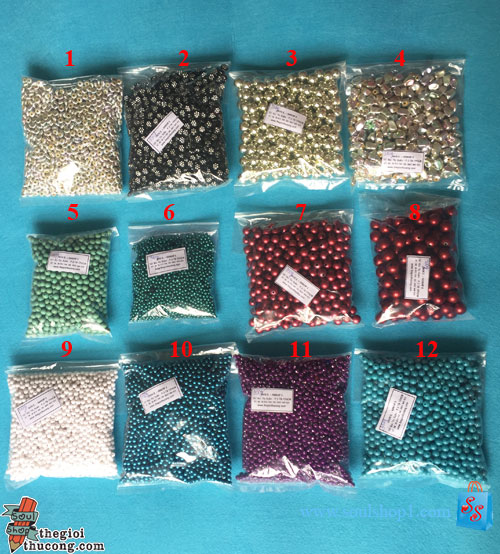 Các loại hạt làm trang sức, trang trí (mã số T1)