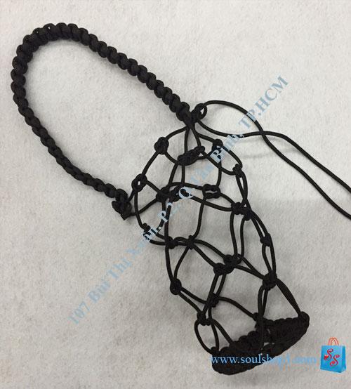 Giỏ đựng bình nước đan bằng dây Paracord