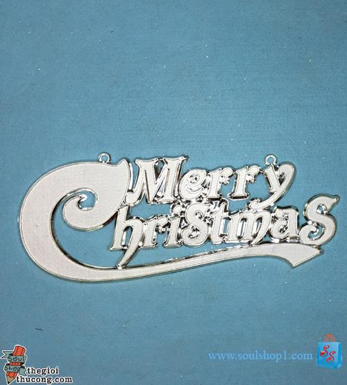 Bảng chữ Merry Christmas,size lớn, nhựa, kiểu 1
