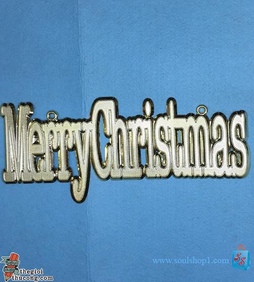 Bảng chữ Merry Christmas,size lớn, nhựa, kiểu vuông 1