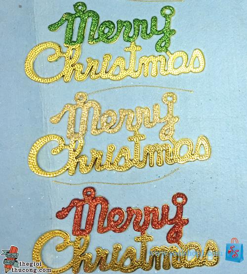 Chữ Merry Christmas 3 màu