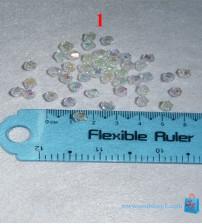 Hạt cườm hình kim cương tròn